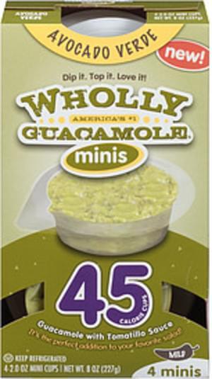 Wholly Guacamole Avocado Verde Mild Guacamole - 8 oz