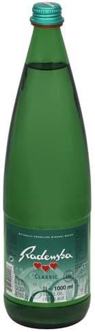 Radenska Sparkling Mineral, Classic Water - 33.8 oz