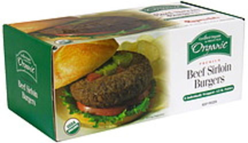Ruprechts Organic Premium Beef Sirloin Burgers - 8 ea