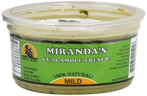 Mirandas Fresco, Mild Guacamole - 12 oz