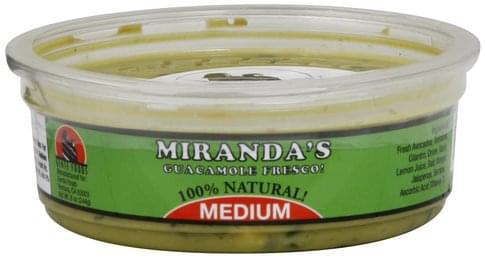 Mirandas Fresco, Medium Guacamole - 8 oz