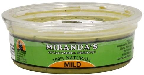 Mirandas Fresco, Mild Guacamole - 8 oz