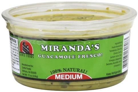 Mirandas Fresco, Medium Guacamole - 12 oz