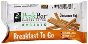 Peak Cereal Bar Cinnamon Roll