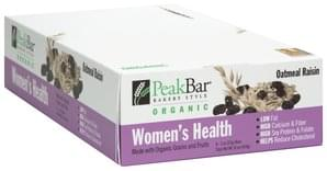 Peak Bar Women's Health, Oatmeal Raisin