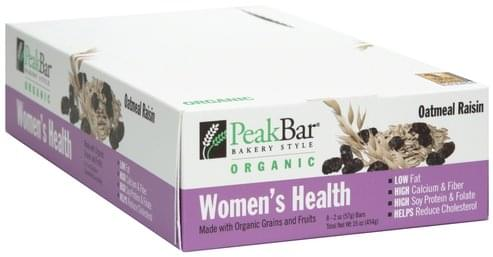Peak Women's Health, Oatmeal Raisin Bar - 8 ea