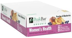 Peak Bar Women's Health, Peaches and Blueberries
