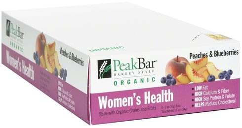 Peak Women's Health, Peaches and Blueberries Bar - 8 ea