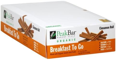 Peak Cinnamon Roll Cereal Bar - 8 ea