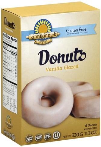 Kinnikinnick Gluten Free, Vanilla Glazed Donuts - 6 ea