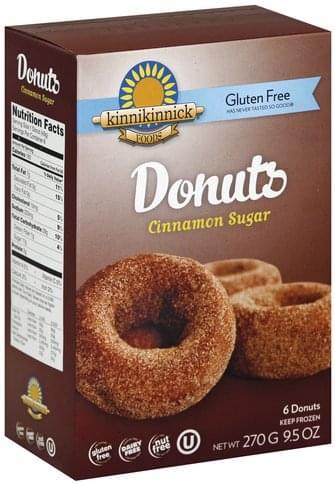 Kinnikinnick Gluten Free, Cinnamon Sugar Donuts - 6 ea