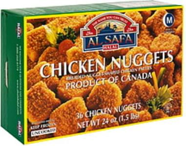 Al Safa Halal Chicken Nuggets Uncooked