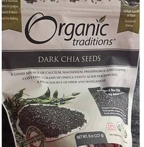 Organic Traditions Dark Chia Seeds