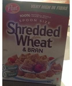 Post Shredded Wheat & Bran Cereal