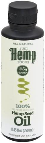 Just Hemp Foods Hemp Seed Oil - 8.45 oz