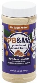 PB&Me Almond Butter No Sugar Added, Powdered