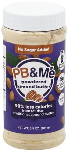 PB&Me No Sugar Added, Powdered Almond Butter - 6.5 oz