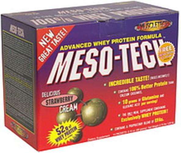 MuscleTech Strawberry Cream, Bonus Whey Protein Meal Supplement - 14 ea