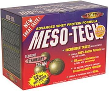 MuscleTech Whey Protein Meal Supplement Strawberry Cream, Bonus