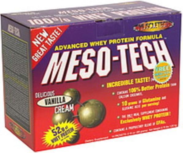 MuscleTech Vanilla Cream, Bonus 100% Whey Protein Meal Supplement - 14 ea