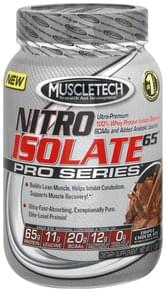 Muscletech Whey Protein Isolate Nitro Isolate 65, Triple Chocolate