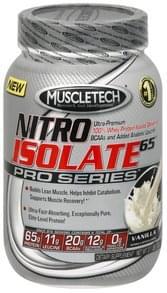 Muscletech Whey Protein Isolate Nitro Isolate 65, Vanilla
