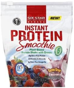 Six Star Protein Smoothie Instant, Mixed Berry