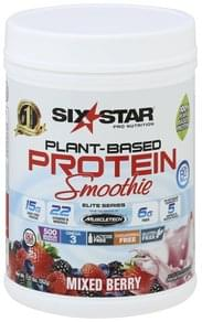 Six Star Plant-Based Protein Smoothie, Mixed Berry