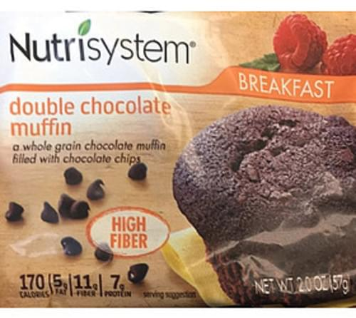 Nutrisystem Double Chocolate Muffin - 57 g