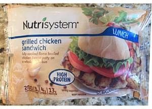 Nutrisystem Grilled Chicken Sandwich
