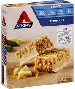 Atkins Snack Bar s, Lemon Bar