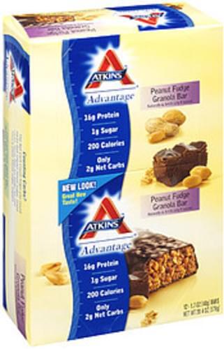 Atkins Advantage Peanut Fudge 12 Ct Granola Bars - 20.4 oz
