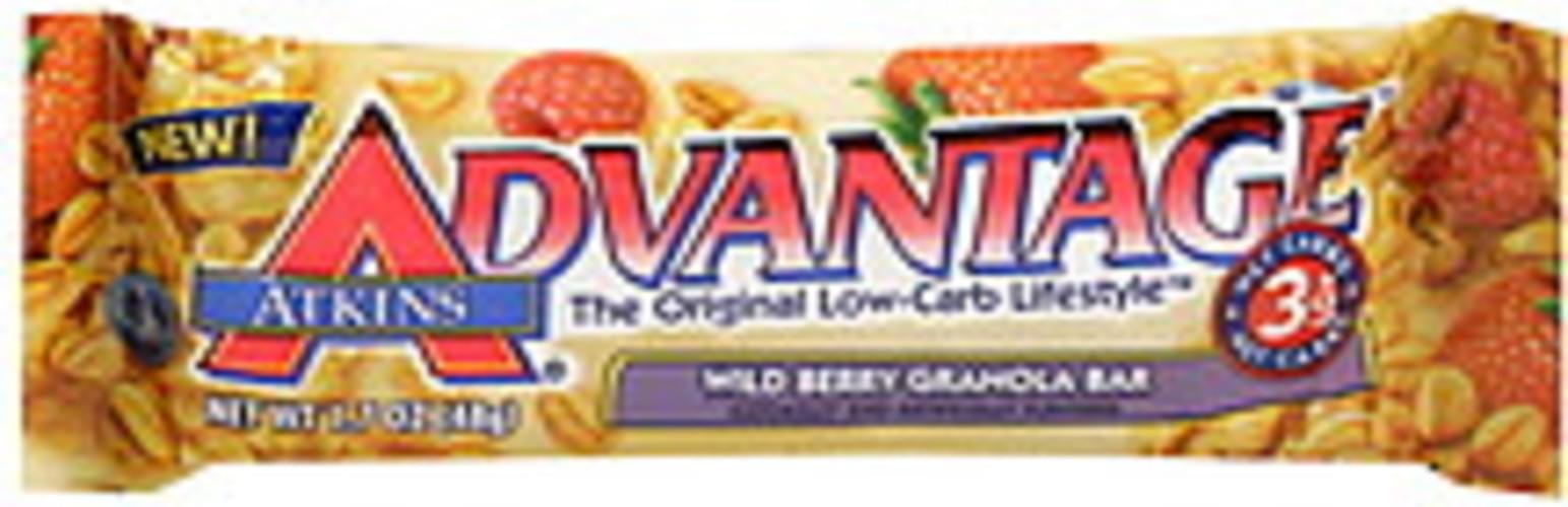 Atkins Wild Berry Granola Bar - 1.7 oz