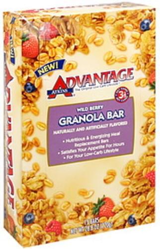Atkins Wild Berry Granola Bar - 15 ea