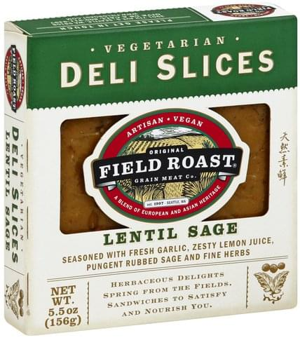 Field Roast Vegetarian, Lentil Sage Deli Slices - 5.5 oz