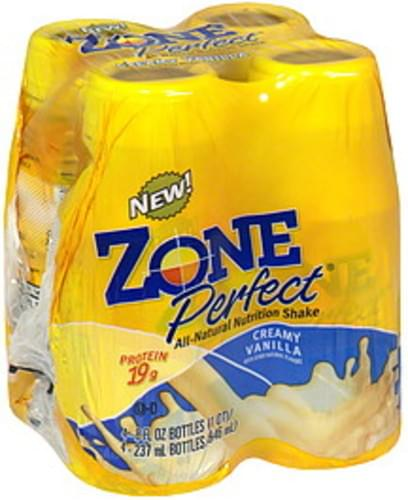 Zone Perfect Creamy Vanilla All-Natural Nutrition Shake - 4 ea