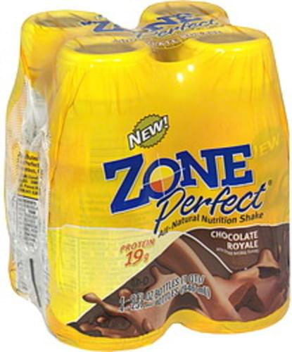 Zone Perfect Chocolate Royale All-Natural Nutrition Shake - 4 ea