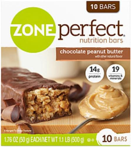 Zone Perfect Chocolate Peanut Butter Zoneperfect Chocolate Peanut Butter Nutrition Bars - 0