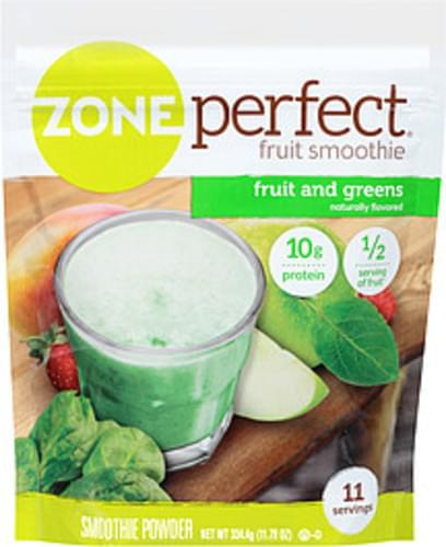Zone Perfect Fruit and Greens Smoothie Powder - 11.79 oz