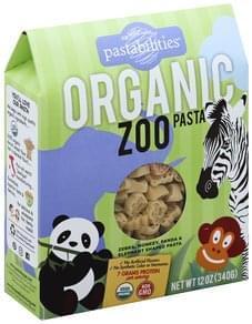 Pastabilities Pasta Organic, Zoo Shapes