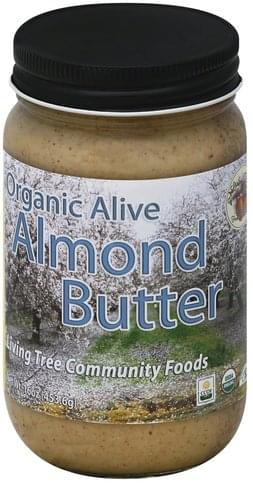 Living Tree Community Foods Organic Alive Almond Butter - 16 oz