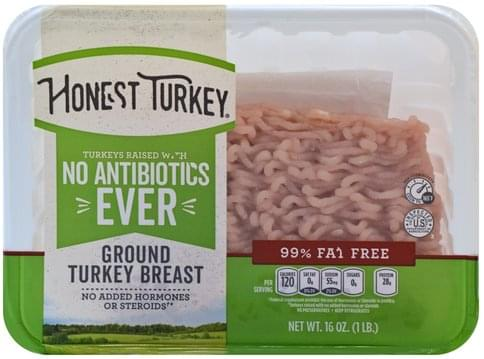 Honest Turkey Ground Turkey Breast - 16 oz