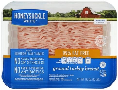 Honeysuckle White Ground Turkey Breast - 19.2 oz