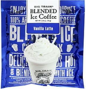 Big Train Vanilla Latte Blended Ice Coffee - 2 8 oz, Nutrition