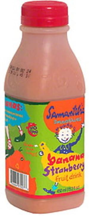 Samantha Fruit Drink, Banana Strawberry  - 15.2 oz