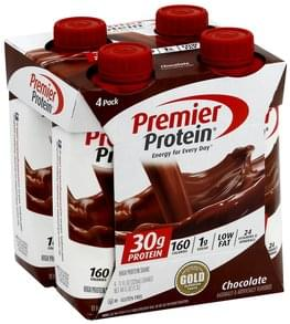 Premier Protein High Protein Shake Chocolate, 4 Pack