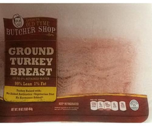 Sprouts Old Tyme Butcher Shop Ground Turkey Breast - 112 g