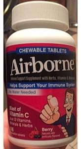 Airborne Blast of Vitamin C Chewable Tablets Berry
