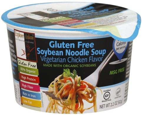 Explore Asian Soybean, Vegetarian Chicken Flavor Noodle Soup - 2.2 oz