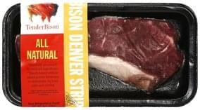Tender Bison Strip Steak Bison Denver